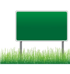 empty billboard grass below vector image