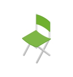 Green chair isometric 3d icon vector image vector image