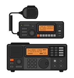 Police Car Radio Transceiver Set vector image vector image