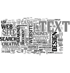 web design non searchable text text word cloud vector image vector image