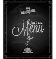 chalkboard menu vector image vector image