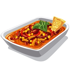 chilly spicy con carne vector image vector image