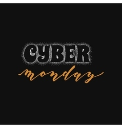 Cyber monday hand-lettering text handmade vector