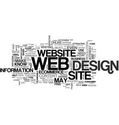 web design scannability text word cloud concept vector image vector image
