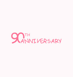 90 anniversary logo concept 90th years birthday vector image
