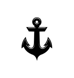 anchor icon nautical maritime sea ocean boat logo vector image