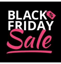 black friday poster glowing light letter vector image