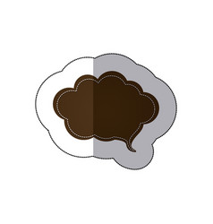 Brown cloud chat bubble icon vector