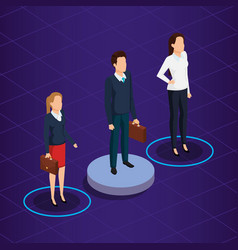 Business people isometric avatars vector