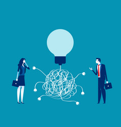 Business team and solution concept business vector