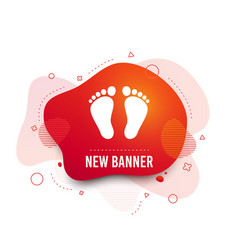 Child pair footprint sign icon barefoot vector