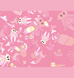 children drawings color seamless pattern vector image