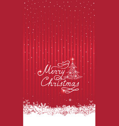 Christmas snowfall background with handwritten vector