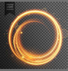 Circular golden light transparent lens flare vector
