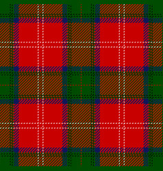 clan chisholm scottish tartan plaid seamless patte vector image