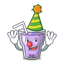 Clown berry smoothie mascot cartoon vector