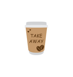coffee icon take away coffee sign vector image