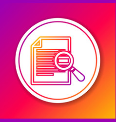 Color document with search line icon isolated on vector