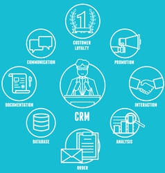 Concept of customer relationship management vector image