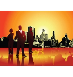 Corporate urban background vector image