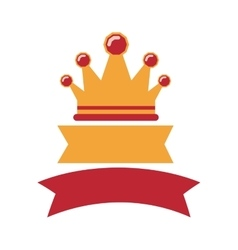 Crown with labels red and yellow vector