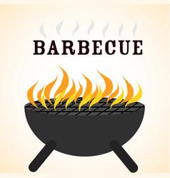 delicious barbecue grill design vector image