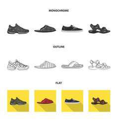 Design of man and foot icon collection of vector