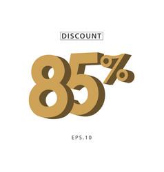 Discount 85 template design vector