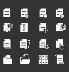 document icon vector image