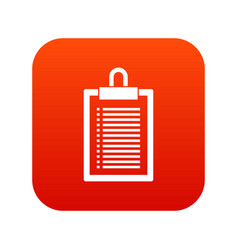 document plan icon digital red vector image