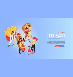 fast food promotion banner vector image