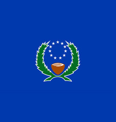 Flag pohnpei state in federated states of vector