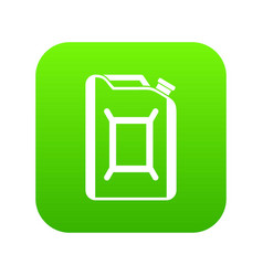 flask for gasoline icon digital green vector image