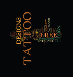 free tattoo designs text background word cloud vector image