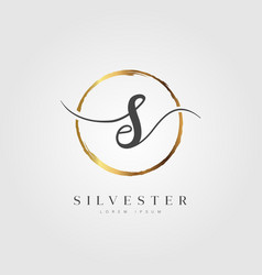 gold elegant initial letter type s vector image