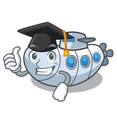 Graduation submarine in the a cartoon shape vector