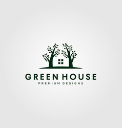 green house nature tree logo symbol design vector image
