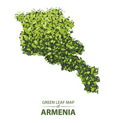 Green leaf map of armenia of a vector