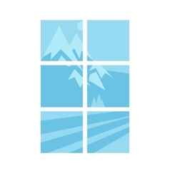 House window elements vector