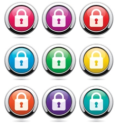 icons with locks vector image
