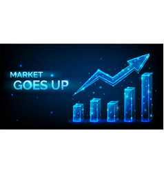 increase in exchange rate or stocks vector image