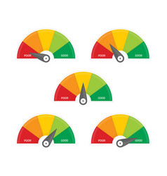 Indicators credit score set vector