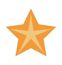 Isolated bright star design vector