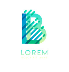 lb logo with theme galaxy speed and style vector image