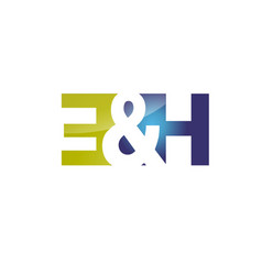 letter e and h logo vector image