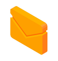 letter mail 3d icon isolated vector image