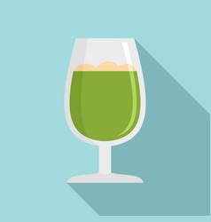 matcha glass icon flat style vector image