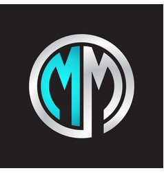 Mm initial logo linked circle monogram vector