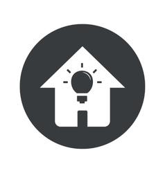 Monochrome round house light icon vector