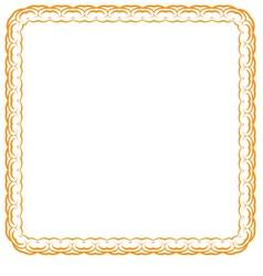 orange frame on white background vector image